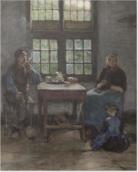 Plakat Anton Mauve - Wnętrze domu w Laren - Reproductions