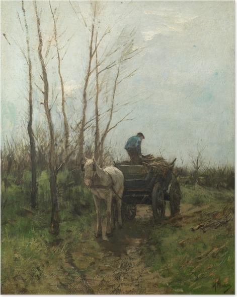 Plakat Anton Mauve - Zbieranie drewna - Reproductions