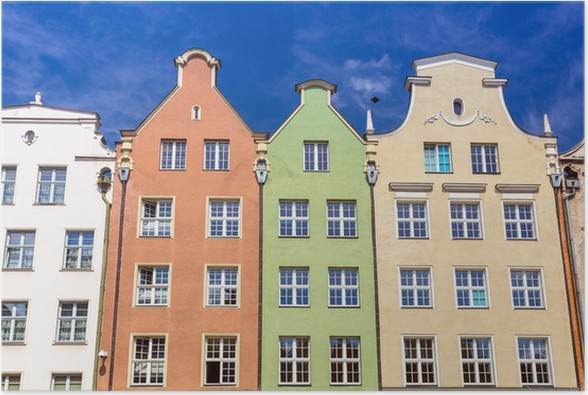 Plakát Architektura starého města v Gdaňsku, Polsko - Evropa
