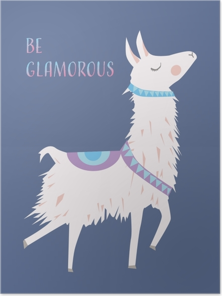 Plakat Bądź glamour - Motywacyjne