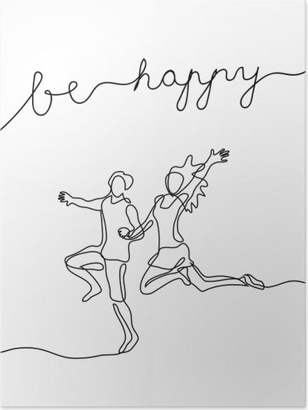 Plakat Bądź szczęśliwy - Motywacyjne