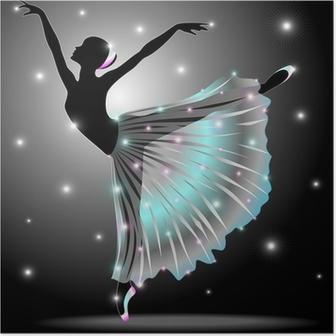 Plakat Ballerina Danza Classica-Classic Star Dance Dancer-Vector