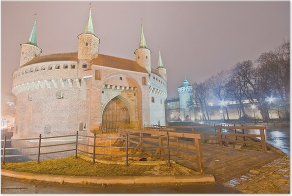 Plakát Barbican v Krakově, Polsko - Evropa