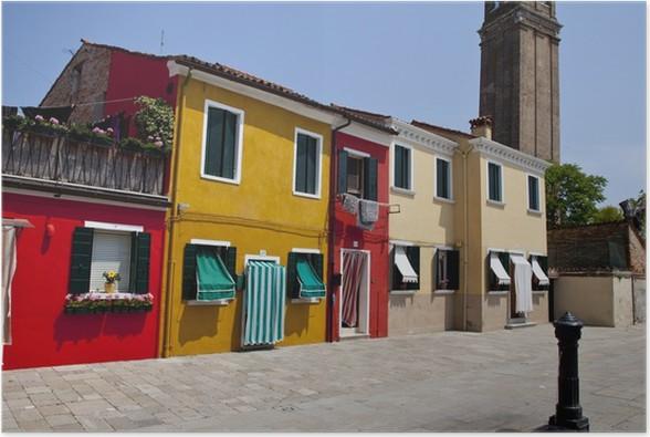 Plakát Barevné domy na ostrov Burano - Domov a zahrada