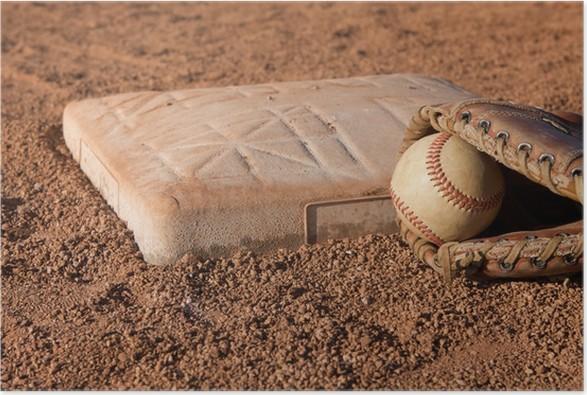 Plakát Baseball u druhé základny - Individuální sporty