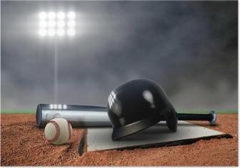 Plakat Baseball Urządzenia w centrum uwagi
