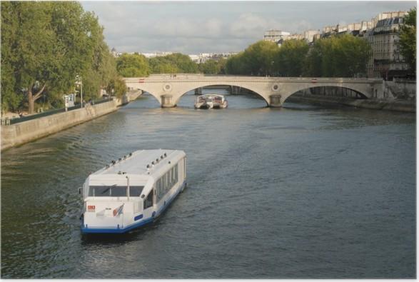 Plakát Bateau mouche à Paris - Hory