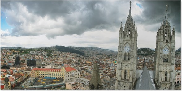 Plakát Bazilika v Quito, Ekvádor. - Amerika