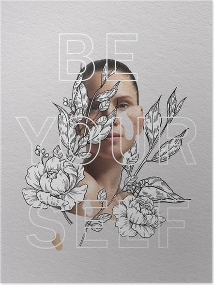 Plakat Be yourself - Motywacyjne