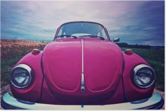 Plakat Beetle przednia - kultowy samochód w Niemczech
