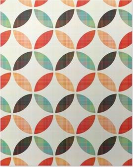 Plakát Bezešvé geometrický kruhový vzor