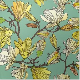 Plakát Bezešvé květinové textury