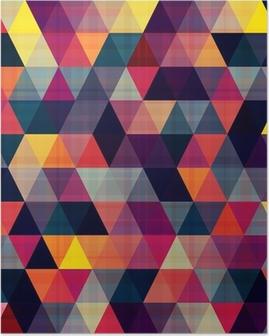 Plakát Bezešvé trojúhelník na pozadí