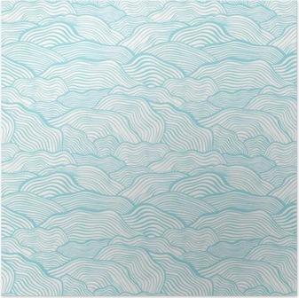 Plakát Bezproblémové vzorek s zvlněná stupnice texturou