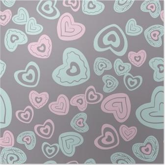 Plakát Bezproblémové vzorek srdce