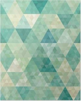 Plakat Bezszwowe tło z abstrakcyjnym ornamentem geometrycznym