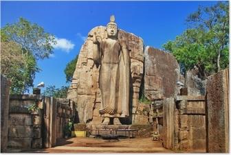 Plakat Big statua Buddy - Awukana, Sri Lanka