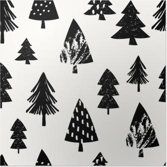 Plakat Boże Narodzenie bez szwu deseń