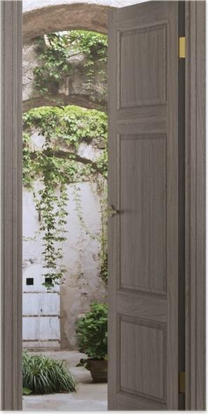 Plakat Brązowe drzwi - Arkada -