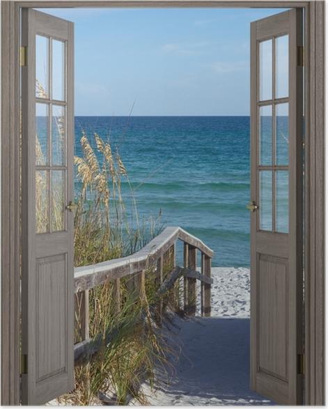 Plakat Brązowe drzwi - Wydmy -