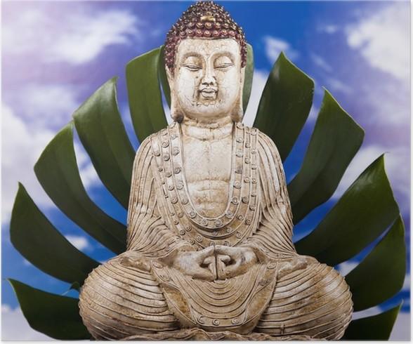 Plakát Buddha a modrou oblohu na pozadí - Témata