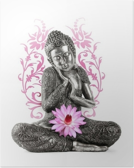 Plakát Buddha socha