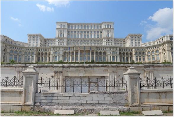 Plakát Bukurešť - Palác Parlamentu - Město