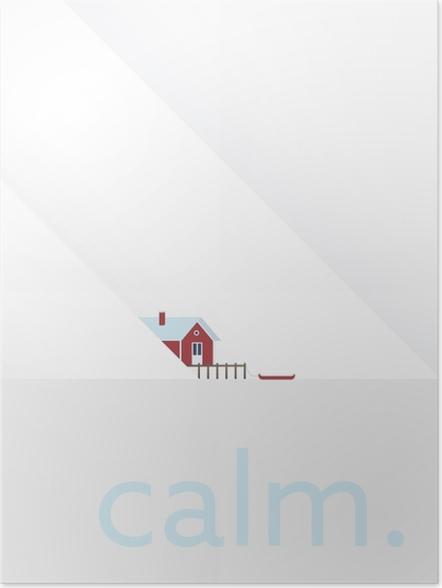 Plakat Calm. - Motywacyjne