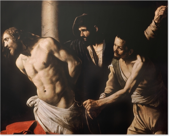 Plakat Caravaggio - Biczowanie Chrystusa - Reproductions