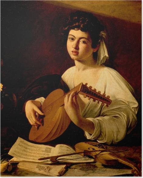 Plakat Caravaggio - Lutnista - Reproductions