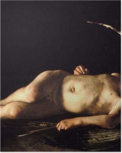 Plakat Caravaggio - Śpiący Amor - Reproductions