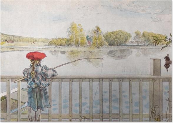 Plakat Carl Larsson - Lisbeth wędkuje - Reproductions