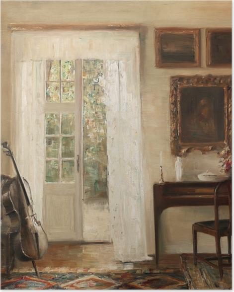 Plakat Carl Vilhelm Holsøe - Wnętrze z wiolonczelą - Reproductions