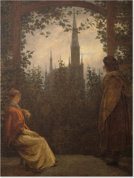Plakat Caspar David Friedrich - Altana w Greifswaldzie - Reproductions