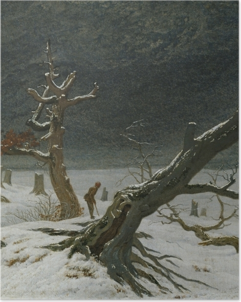 Plakat Caspar David Friedrich - Pejzaż zimowy - Reproductions
