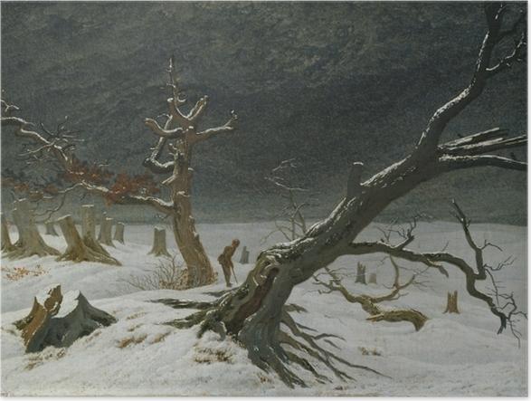 Plakat Caspar David Friedrich - Pejzaż zimowy - Reproductions