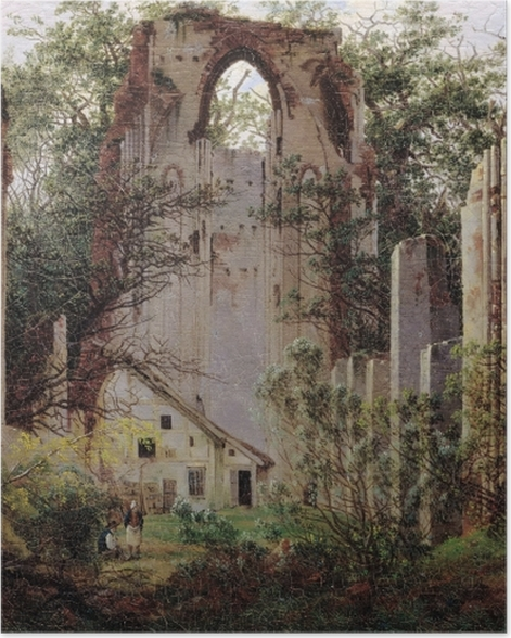 Plakat Caspar David Friedrich - Ruiny klasztoru Eldena - Reproductions