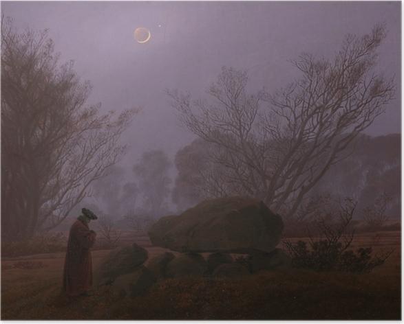 Plakat Caspar David Friedrich - Spacer o zmierzchu - Reproductions