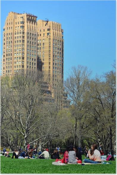Plakát Central park, New York - Americká města