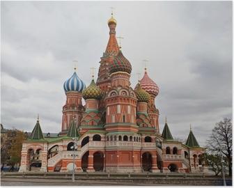 Plakat Cerkiew Wasyla Błogosławionego, Moskwa, Rosja