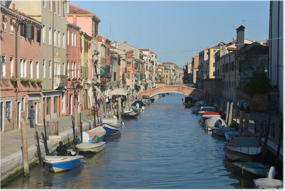 Plakát Cestovní ruch v Benátkách - Evropa