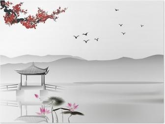 Plakat Chińskich malowanie