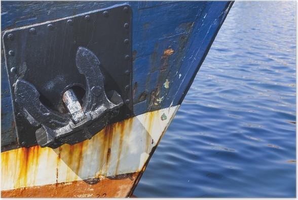 Plakát Chyba eines Fischerbootes im Hafen von Heiligenhafen, Schleswig-Hol - Evropa