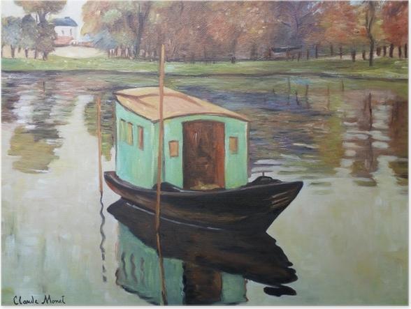 Plakat Claude Monet - Atelier w łódce - Reprodukcje