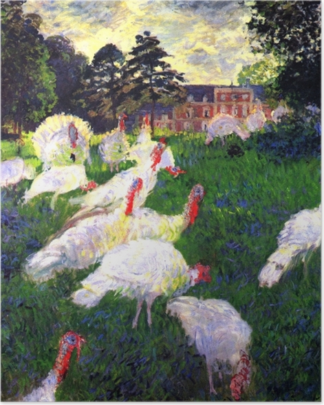 Plakat Claude Monet - Białe indyki - Reprodukcje