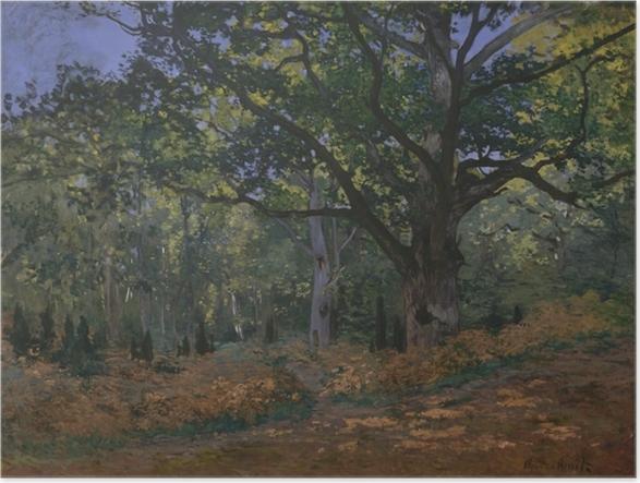 Plakat Claude Monet - Dąb w okolicach Bas-Bréau - Reprodukcje