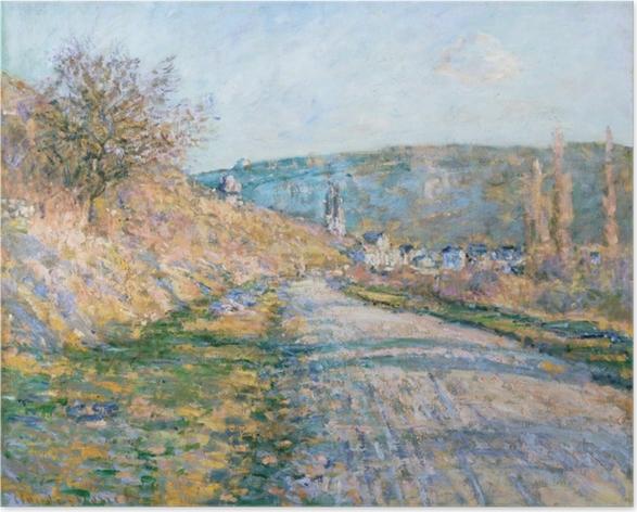 Plakat Claude Monet - Droga w Vetheuil - Reprodukcje