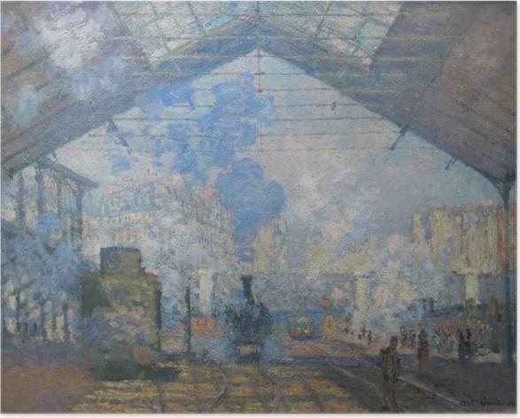 Plakat Claude Monet - Dworzec St. Lazare - Reprodukcje