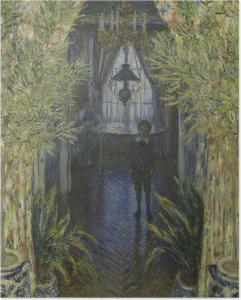 Plakat Claude Monet - Fragment mieszkania w Argenteuil - Reprodukcje