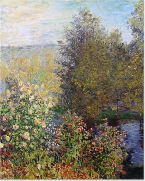 Plakat Claude Monet - Fragment ogrodu w Montgeron - Reprodukcje
